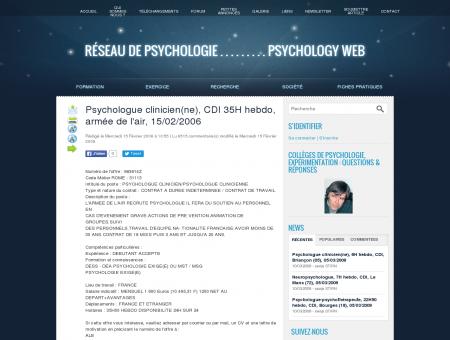 Psychologue clinicien(ne), CDI 35H hebdo,...