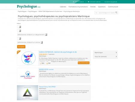 Psychologues Martinique - Psychologue.net