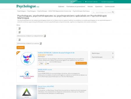 Psychothérapie Martinique - Psychologue.net