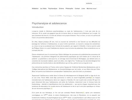 Vincent LE CORRE  Psychologue ...