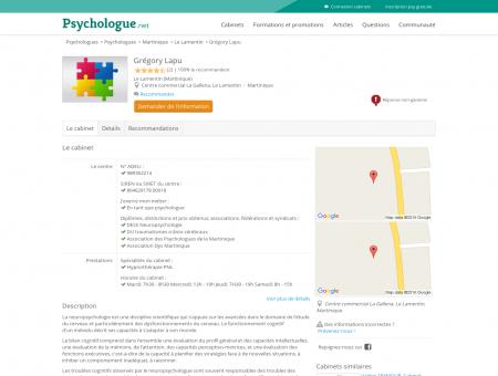 Grégory Lapu - Psychologue.net