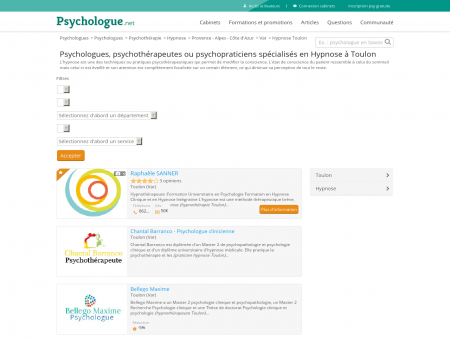 Hypnose Toulon - Psychologue.net -...