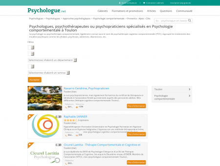 Psychologie comportementale Toulon -...