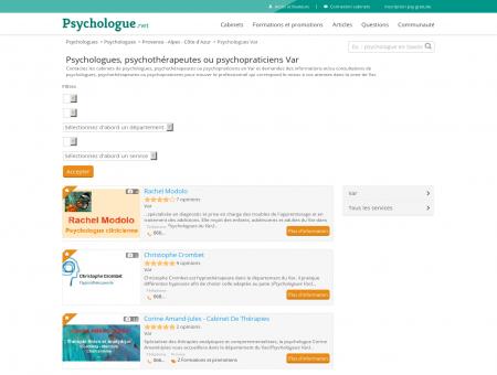 Psychologues Var - Psychologue.net