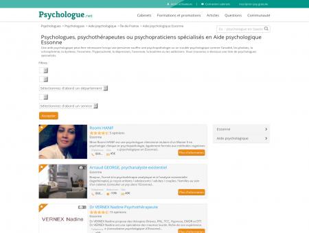 Aide psychologique Essonne - Psychologue.net