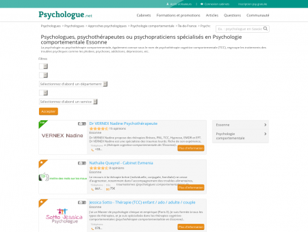Psychologie comportementale Essonne -...