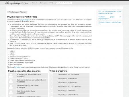 Psychologue au Port (97420) - Annuaire des...