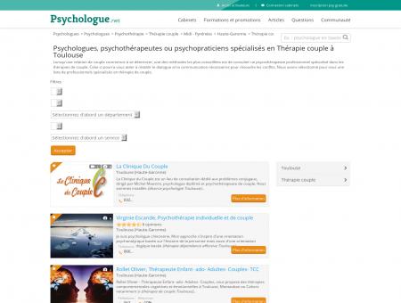 Thérapie couple Toulouse - Psychologue.net