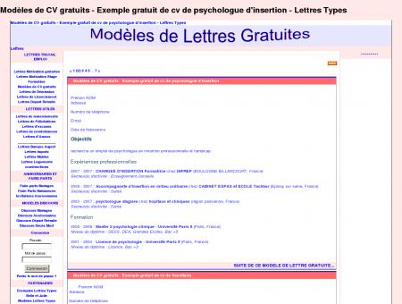 Modèles de CV gratuits - Exemple gratuit de cv...