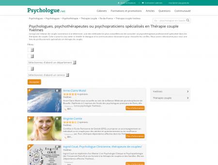 Thérapie couple Yvelines - Psychologue.net