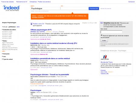 Emploi Psychologue - Travail | Indeed.fr