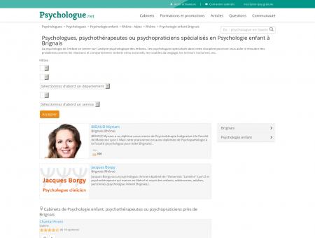 Psychologie enfant Brignais - Psychologue.net