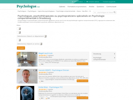 Psychologie comportementale Strasbourg -...