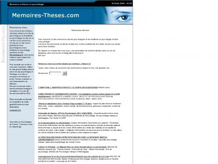memoires|theses|travaux|ecrits|documents|psychologie