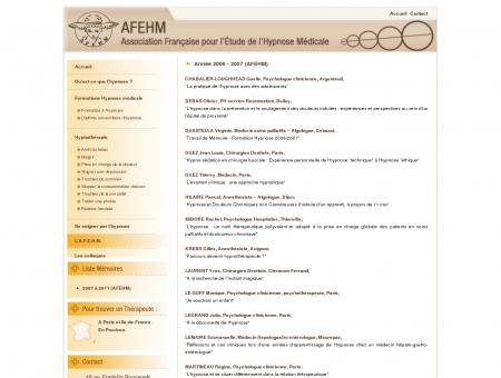 Mémoires sur l'hypnose - AFEHM | Association...
