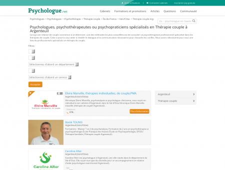 Thérapie couple Argenteuil - Psychologue.net