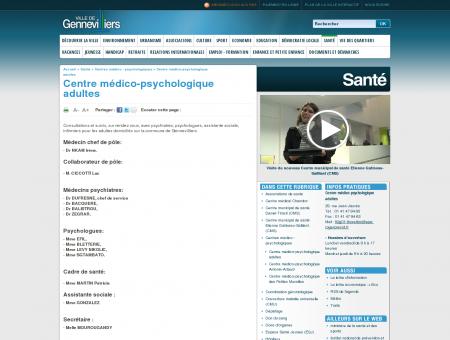 Centre médico-psychologique adultes...