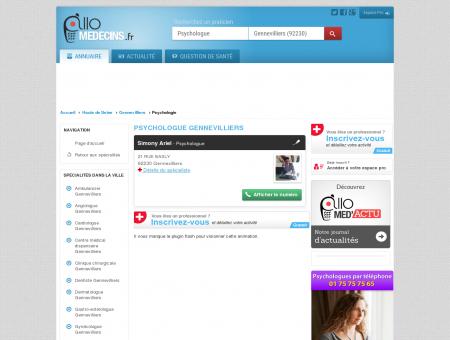 Psychologue Gennevilliers - Médecin -...