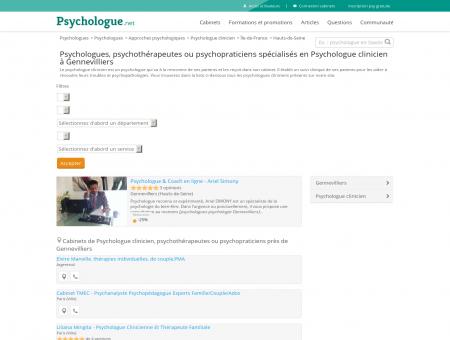 Psychologue clinicien Gennevilliers -...