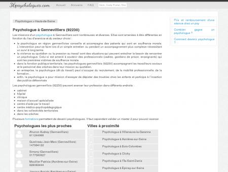 Psychologue à Gennevilliers (92230) -...