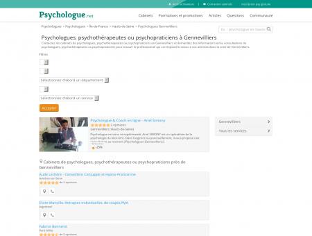 Psychologues Gennevilliers - Psychologue.net