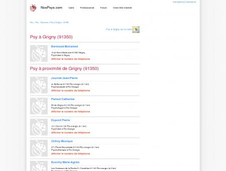 Psy à Grigny (91350) - Psychologue,...