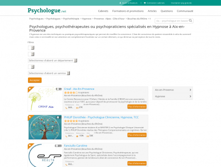 Hypnose Aix-en-Provence - Psychologue.net