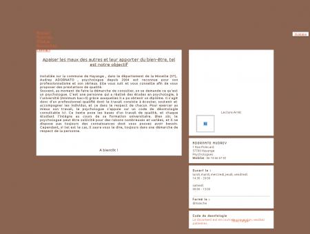 ADORNATO AUDREY - Psychologues - Hayange