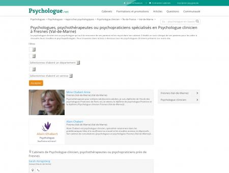 Psychologue clinicien Fresnes (Val-de-Marne) -...
