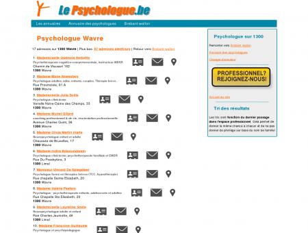 Psychologue Wavre