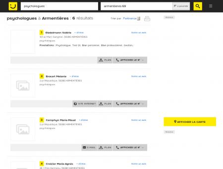 Psychologues à Armentières - PagesJaunes :...