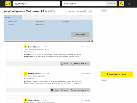 Psychologue à Mulhouse - PagesJaunes :...