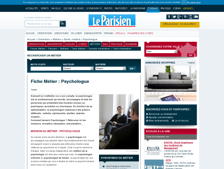 Devenir Psychologue  Fiche métier...