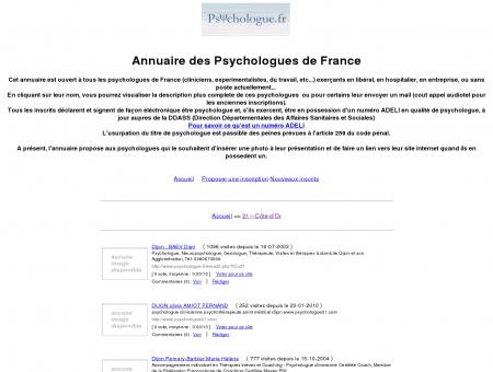 Annuaire des psychologues de france du site...