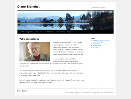 Diane Blanchet | Psychologue clinicienne