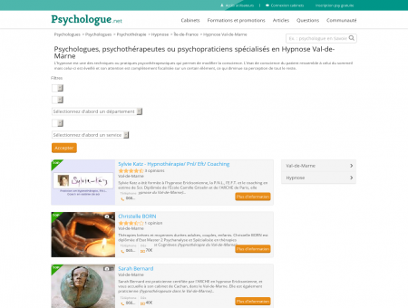 Hypnose Val-de-Marne - Psychologue.net