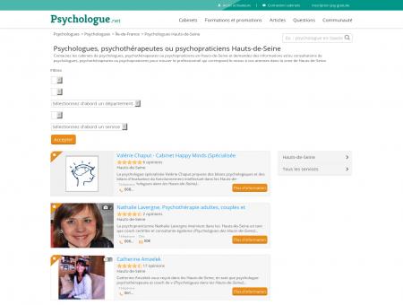 Psychologues Hauts-de-Seine - Psychologue.net