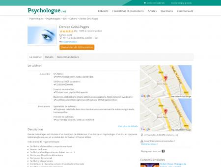Denise Grisi-Pages - Psychologue.net
