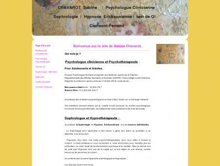 Psychothérapeute - Chavarot sabine-...
