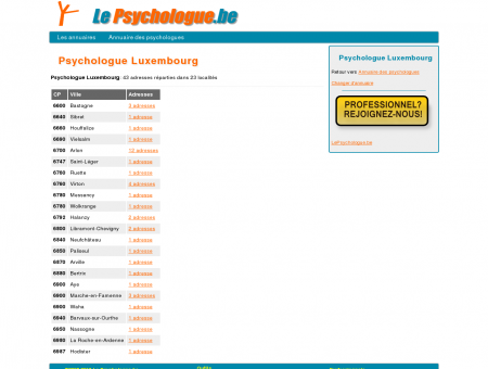 Psychologue Luxembourg