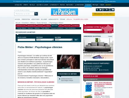 Devenir Psychologue clinicien  Fiche métier ...