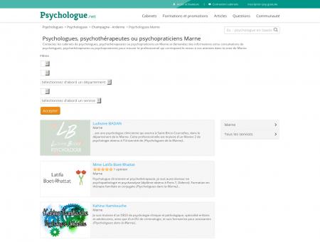 Psychologues Marne - Psychologue.net