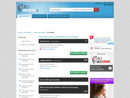 Psychologue Cournon-d'auvergne - Médecin -...