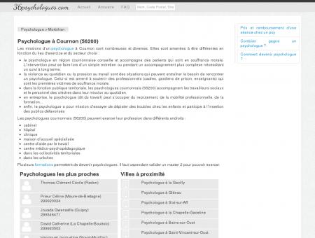 Psychologue à Cournon (56200) - Annuaire...