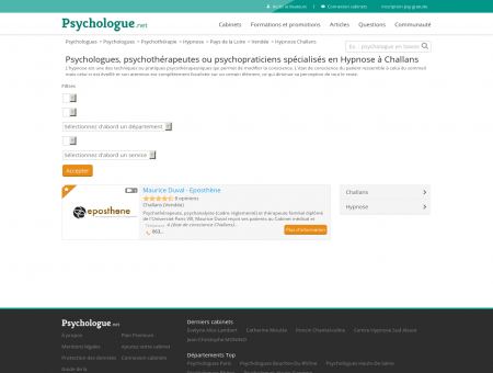 Hypnose Challans - Psychologue.net -...