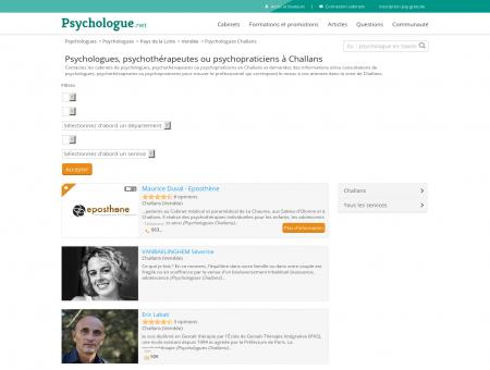 Psychologues Challans - Psychologue.net