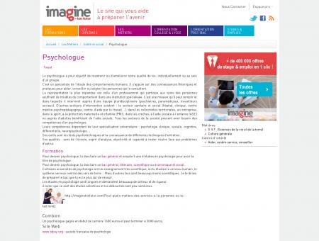 Psychologue - Métiers, test d'orientation...