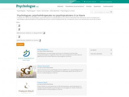 Psychologues Le Havre - Psychologue.net