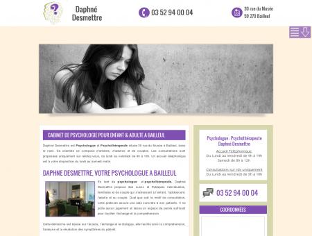 Psychologue Daphné Desmettre | Bailleul 59270