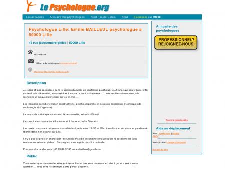 Psychologue Lille: Emilie BAILLEUL...